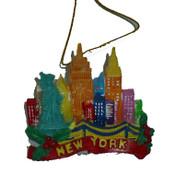 NYC Skyline Colorfull Christmas Ornament