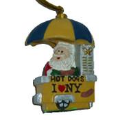 Hot Dog Vendor Santa Christmas Ornament