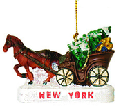 Cenral Park Christmas Ornament - Horse and Buggy