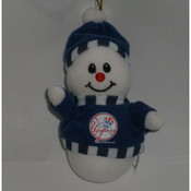 New York Yankees Snowman Christmas Ornament