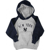 Yankees Boys Grey/Navy Hooded Sweatshirt