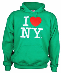 I Love NY Green Hooded Sweatshirt
