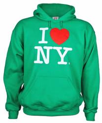 I Love NY Green Hooded Sweatshirt
