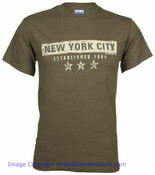 New York City EST 1664 Dark Green Tee