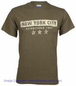 New York City EST 1664 Dark Green Tee