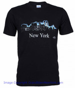 New York Glowing Night Skyline Tee