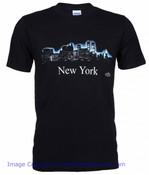 New York Glowing Night Skyline Tee