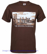 Brooklyn Bridge Photo Brown Tee