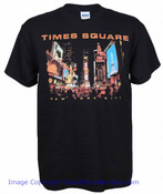 Times Square at Night Black Tee