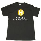 "New York City Harlem ""H"" Black Tee"