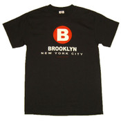 "New York City Brooklyn ""B"" Black Tee"