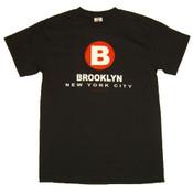 "New York City Brooklyn ""B"" Black Tee"