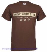 New York City EST 1664 Brown Tee