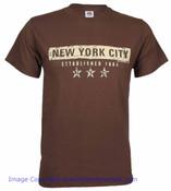 New York City EST 1664 Brown Tee