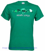 Irish Yoga Green Adult Tee