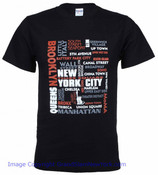 New York City Crosswords Black Tee