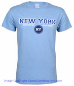 New York Circle Lt. Blue Adult Tee