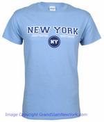 New York Circle Lt. Blue Adult Tee