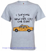 I Survived A New York City Cab Ride Adult Tee