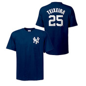 Yankees Mark Teixeira Name & Number Youth Tee