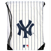 Yankees White Pinstripe Draw-String Backsack