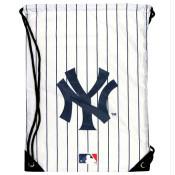 Yankees White Pinstripe Draw-String Backsack