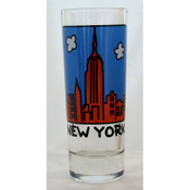 "NYC ""Cartoon Skyline"" Shooter Glass"