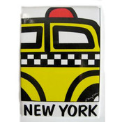 "NYC "" Cartoon Taxi"" Magnet"