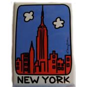 "NYC "" Cartoon Skyline"" Magnet"