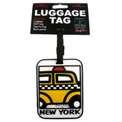 "NYC ""Cartoon Taxi"" Luggage Tag"