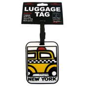 """NYC """"Cartoon Taxi"""" Luggage Tag"""