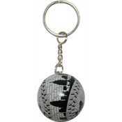 "NYC ""Grey Skyline"" Baseball Keychain"