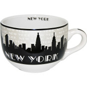 "NYC ""Grey Skyline"" Soup Mug"
