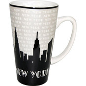 NYC Grey Skyline Java Mug