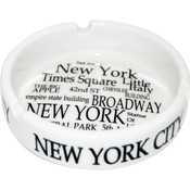 "NYC ""Black Letters"" Ashtray"