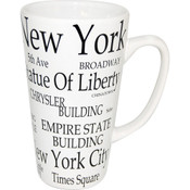 "NYC ""Black Letters"" Java Mug"