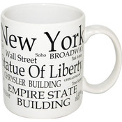 "NYC ""Black Letters"" 4oz. Mini Mug"