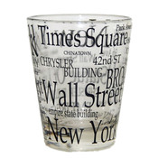 "NYC ""Black Letters"" Clear Shot Glass"