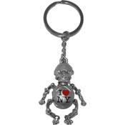 I Love NY Skeleton Keychain