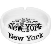 "New York ""All Over"" White Ashtray"
