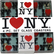 "I Love NY ""Repeat"" Coasters (Set of 4)"