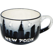 "NYC ""Grey Skyline"" Hand Painted Soup Mug"