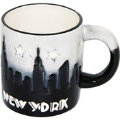 "NYC ""Grey Skyline"" Hand Painted 11oz. Mug"