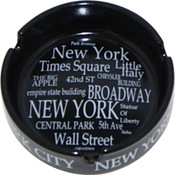 "NYC ""White Letters"" Ashtray"
