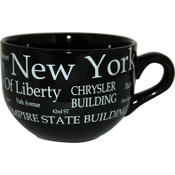 "NYC ""White Letters"" Soup Mug"