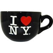 I Love NY Black Soup Mug