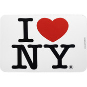 I Love NY White Mouse Pad