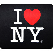 I Love NY Black Mouse Pad