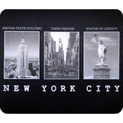 "NYC ""Black & White Photos"" Mouse Pad"