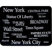 "NYC ""White Letters"" Mouse Pad"